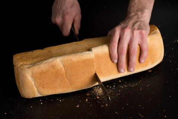 Toastbrot Spezialgrösse Aufgeschnitten